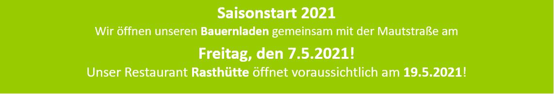 Saisoneröffnung 2021